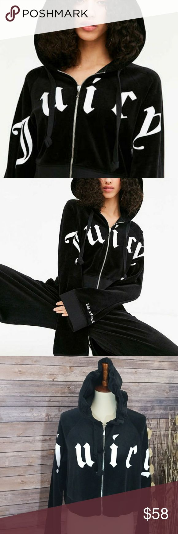 Juicy Couture crop jacket. Exclusive for UO Juicy CoutureCropped Zip Hoodie Jacket. Exclusive Juicy Couture for Urban Outfitters.  Brand new.. Still has paper on zipper. Cropped velour style jacket. Very cool. Size Medium  Retail $119.00 Juicy Couture Jackets & Coats