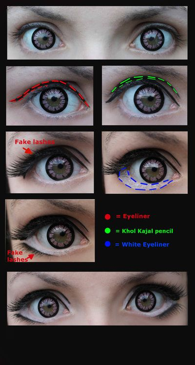 Manga eyes [Cosplay Make-Up] by JackyChip.deviantart.com on @deviantART