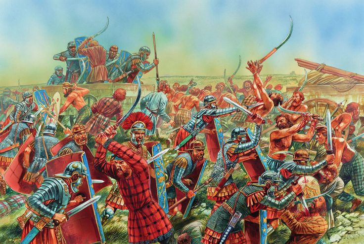 First Dacian War-Peter Dennis.  Click on image to ENLARGE.