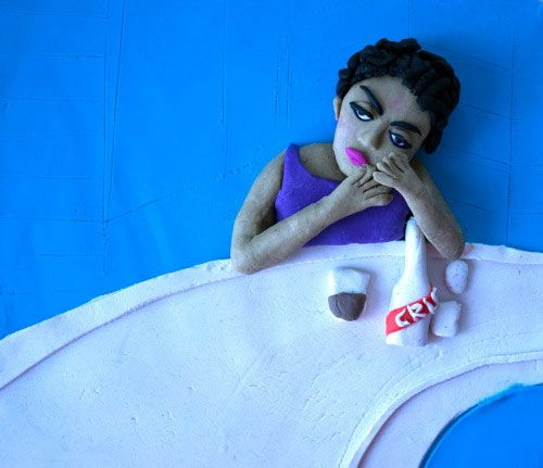 Photographs Rendered in Play Doh Eleanor Macnair - Original photo Eve Arnold