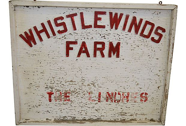 Country Farm Sign on OneKingsLane.com