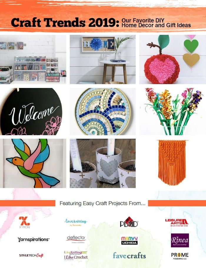 Craft Trends 2019 Our Favorite Diy Home Decor And Gift Ideas Craft Projects Popular Crafts Trending Crafts