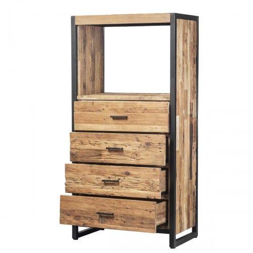 Bulang | lemari laci kayu jati besi desain industrial dekor rumah kafe shelf cabinet drawer furniture design interior