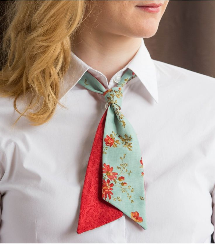 Our Ladies Ties are very versatile, you can tie them many ways!And the reversible ones have even more variations.You can tie them like a scarf, tie, bowtie or like a bow.
