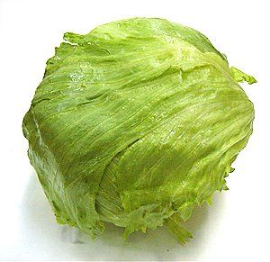 To keep iceberg lettuce crisp, cut the core out. Fill the core with cold tap water, then drain for 15 minutes. It will stay crisp for up to two weeks in the refrigerator.