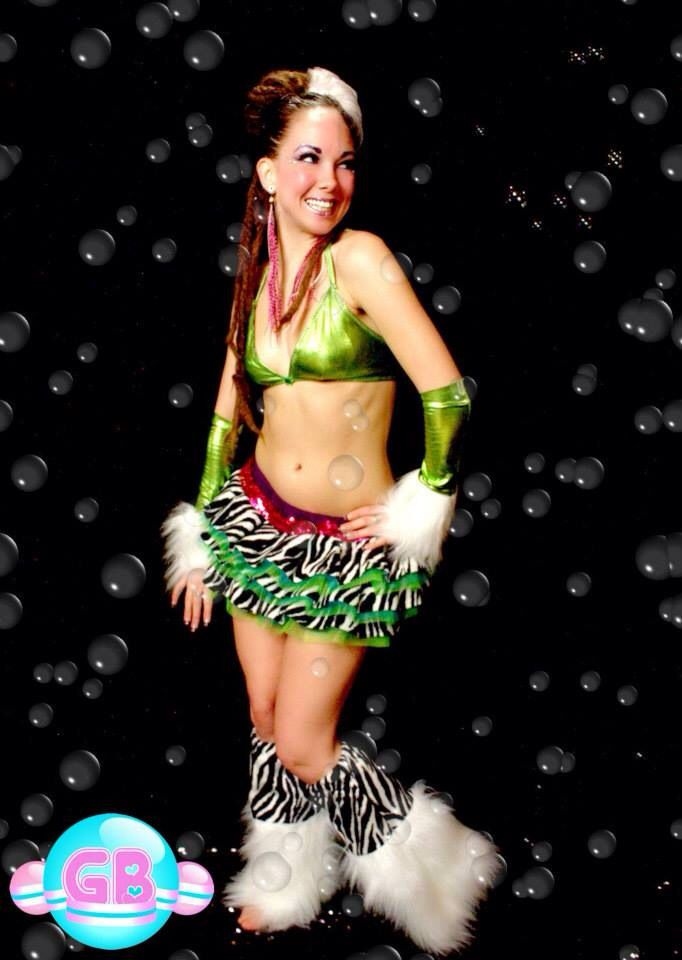 Custom Clubwear by Glitter Bubbles *GB tutu *GB fluffies  *GB bikini top *GB gauntlets