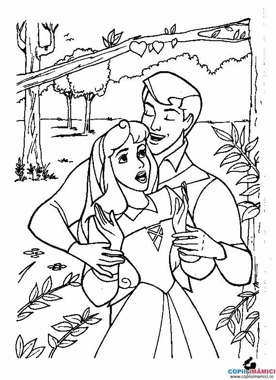 Desene de colorat cu printesa 19