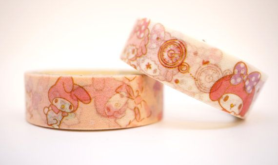 Kawaii My MELODY Japanese SANRIO cartoon washi by MyChildhoodDream