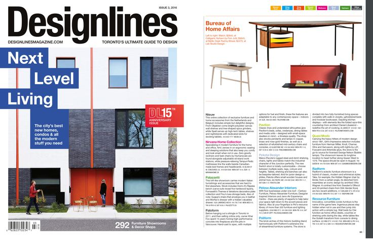 RADform was featured in the summer 2016 issue of Designlines #radform #press #media #designlines #homedecor #interiordesign #moderndesign