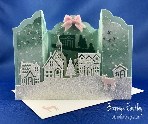 #addinktivedesigns Bronwyn Eastley, Tutorials, Hometown Greetings Bridge Fold Card Tutorial