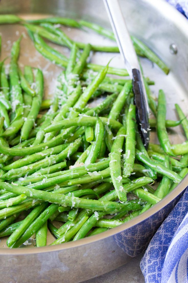 Crisp, fresh Skillet Parmesan Green Beans are an easy, healthy side dish that you'll want to make again and again! With a how to recipe video.
