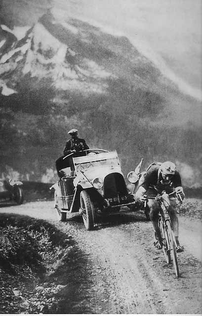 The winner of the 1928 Tour de France, Nicolas Frantz, in action. casual survival