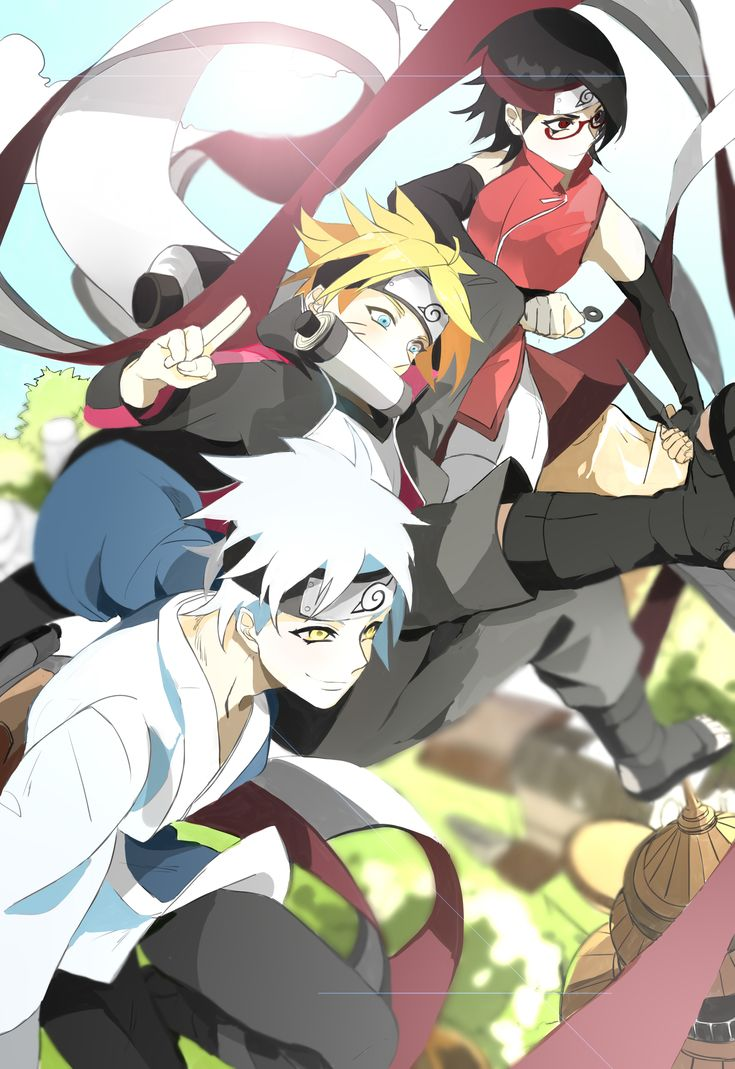 Tags: NARUTO, Pixiv Id 6537749, Uchiha Sarada, Uzumaki Boruto, Mitsuki (NARUTO), Boruto: Naruto the Movie, Team Konohamaru