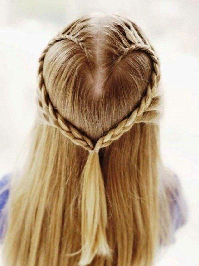 coiffure avec coeur tressé