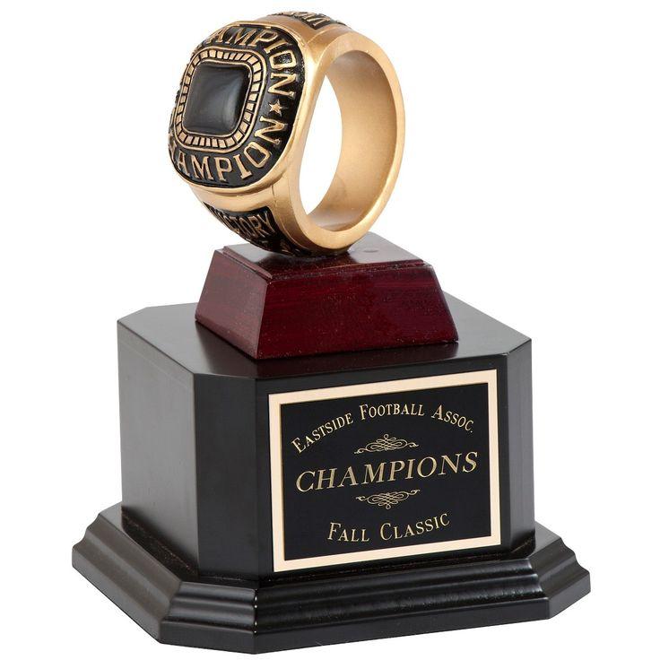 Fantasy Football Championship Ring Perpetual Trophy
