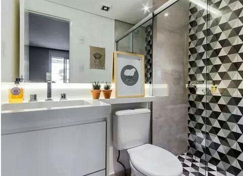 Eu amei esses azulejos geométricos da @portobello_sa 😍 A minha dúvida é se com o tempo eu ia enjoar... Confesso que tenho medo de ousar. E vcs?? Costumam ousar nas escolhas??? #boanoite #azuleijos #revetimentos #meumrv #reforma #obras #banheiro #decor #desingdeinteriores #pinterest #home #recantodosol #piedade #mrv #apartamentopequeno #portobello