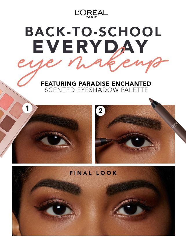 2ec04cb00cb Back-to-school Everyday Eye Makeup with L'Oréal Paris Paradise Enchanted  Scented Eyeshadow Palette and Infallible Pro-Last Waterproof Pencil  Eyeliner in ...