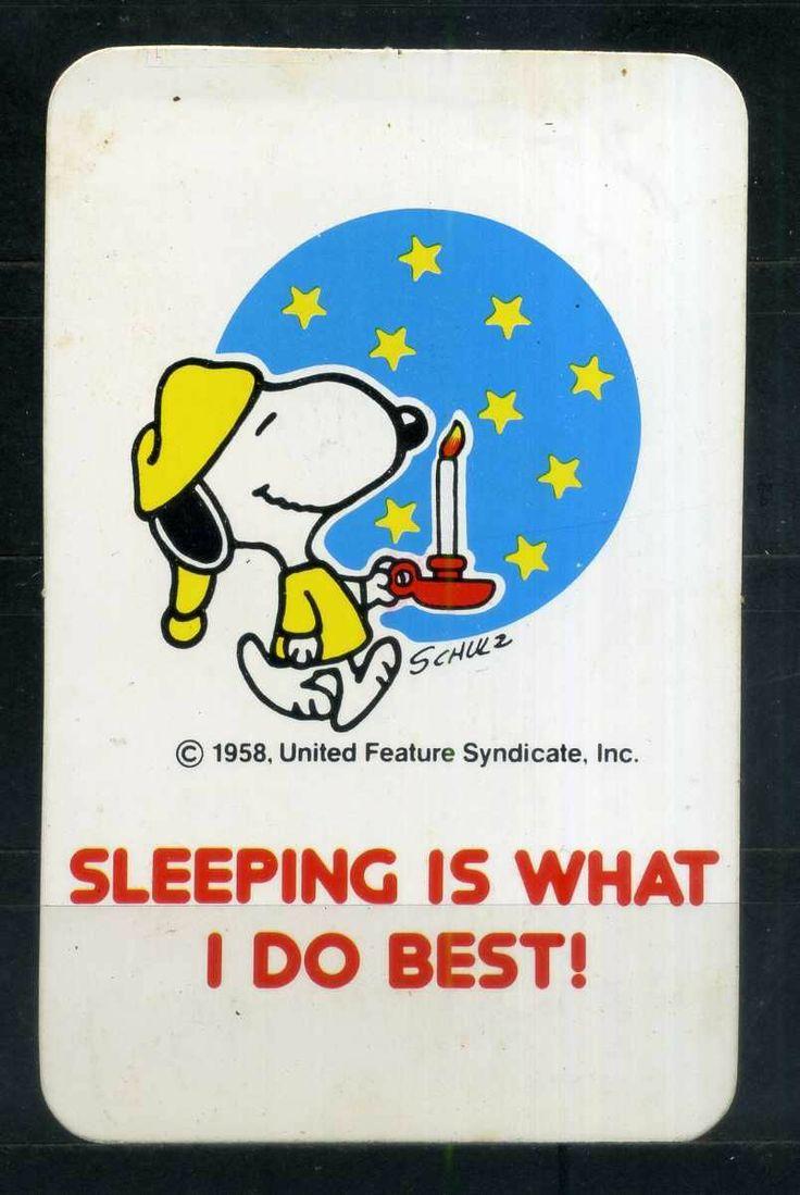Pocket Calendar / Card - Cartoon - Snoopy - Year 1986/87 sleeping vintage graphic comic