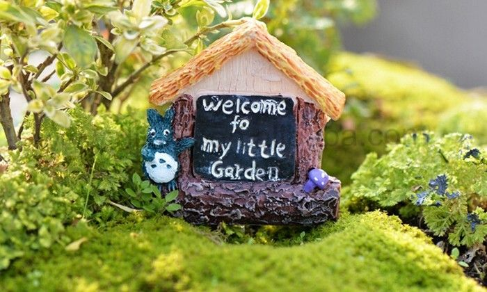 Vintage Home Landscape>< Resin Country House Gardens Ornament Miniature Figurine Decor Craft >< resin miniature house figurines #Landscapes, #Around_House