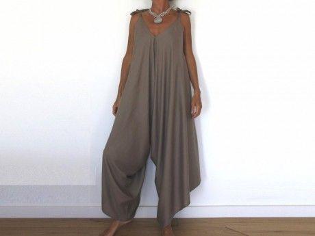 Patron de couture , Salopette Sarouel pour femme Plus