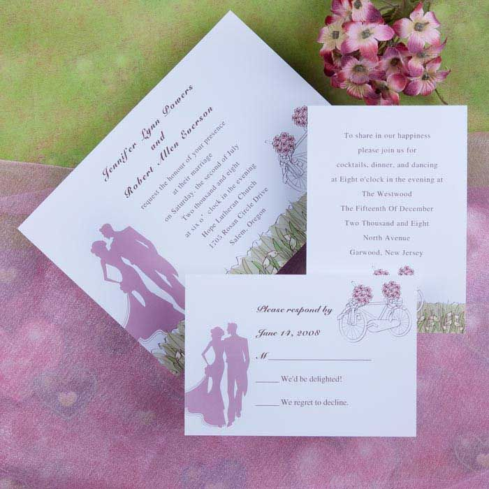 invitation letter for us vissample wedding%0A    romantic pink and green country rustic wedding invitation kits EWI