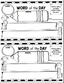 January Word of the Day:  January themed Word of the Day tells something that happened on that day in history on a powerpoint slide. Or print the slide and set this up as a center. Word or words from the day in the history event are used for word work extension activities. There are half page assignments (telling/asking sentences, synonyms, definitions, part of speech) and foldables for INB (syllables, synonyms, antonyms, sentences),blank letter format, and story papers. paid
