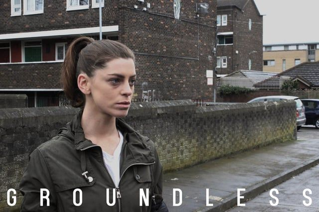 Groundless is an award winning short film starring Aoibhinn McGinnity who plays Mary, a single mother who, despite her best efforts, keeps getting sucked back into her cruel reality.