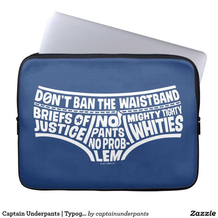 Captain Underpants | Typography Tighty Whities. Producto disponible en tienda Zazzle. Tecnología. Product available in Zazzle store. Technology. Regalos, Gifts. #fundas #sleeves
