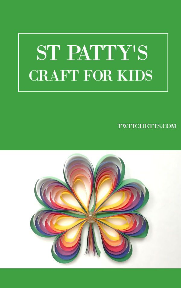How To Make 3d Rainbow Colored Paper Shamrocks Twitchetts Crafts