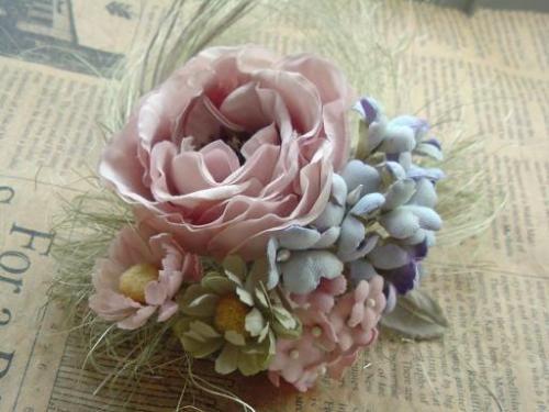 春色ブーケコサージュ(入園式) - 手作りコサージュ販売 happy flower gamu