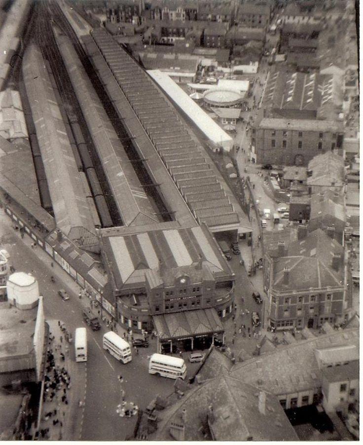 Blackpool Central Station in 1950's splendour.
