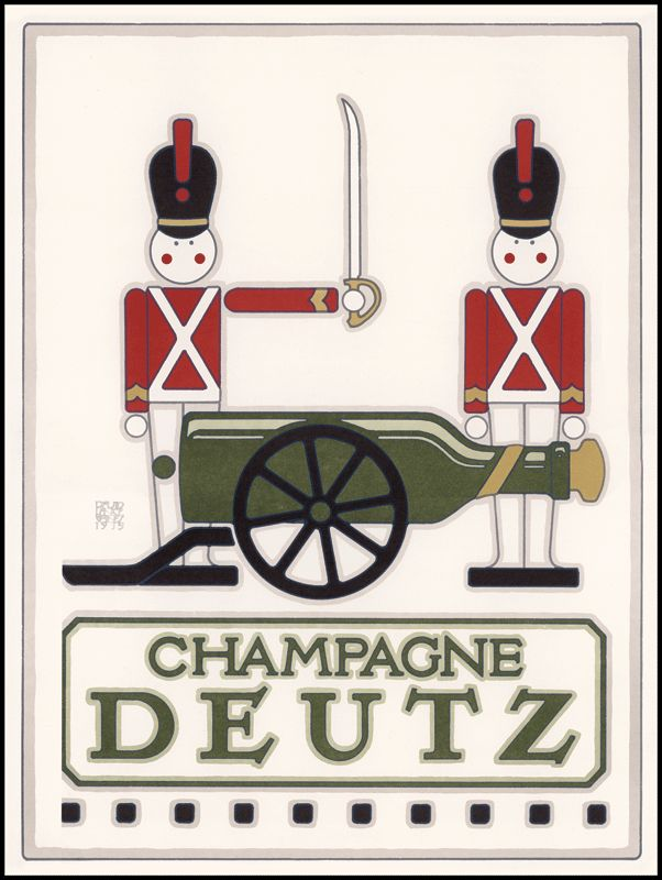 champagne deutz - David Lance Goines | This is one of my top 3 fave bubblies!