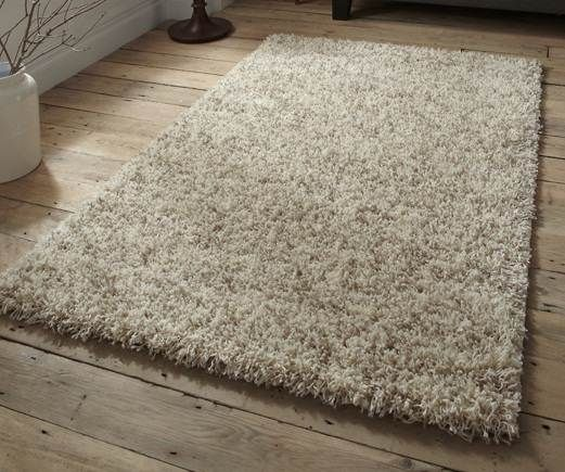 Wonderful Cream Thick And Dense 5cm Soft Shaggy Shag Pile Rug In Lots Of Different  Sizes