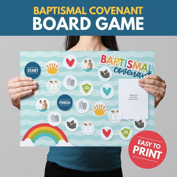 The Baptismal Covenant - Primary 3 Lesson 13. Printable teaching helps with the BEST learning activities!  www.theredheadedhostess.com