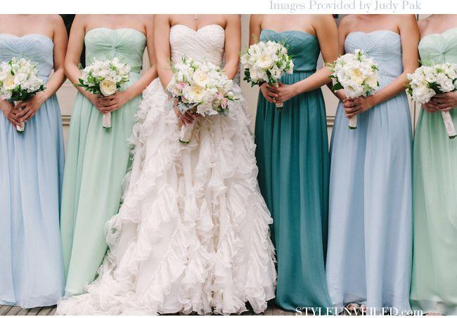 Blue Bridesmaid Dresses | kiah weddings. @Stephanie Summer
