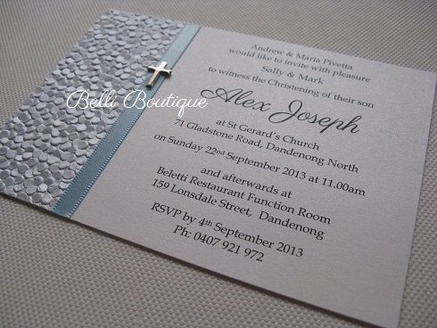 baptism christening invitations belli boutique melbourne wedding