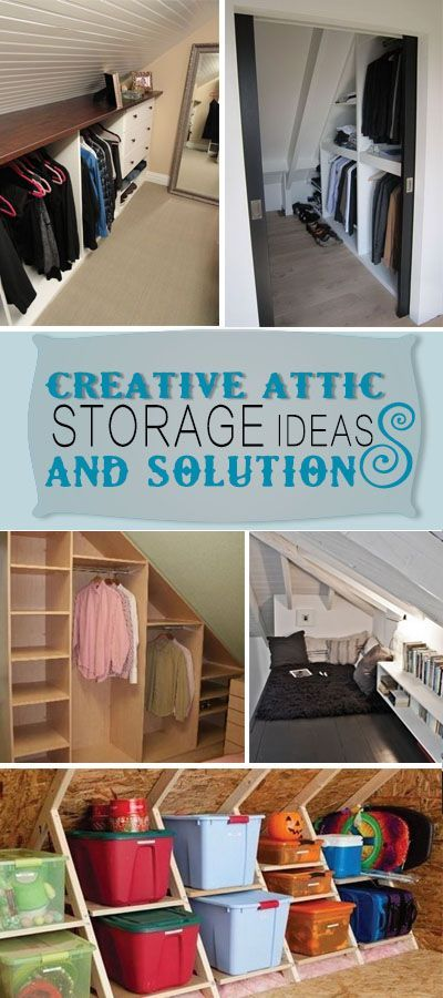 Creative Attic Storage Ideas and Solutions!