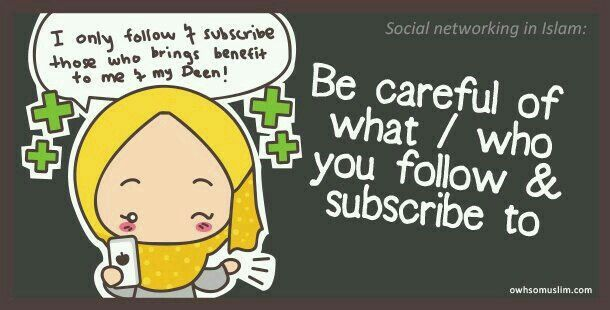 Be careful of what you follow & subscribe