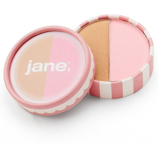 Jane Cosmetics Blushing Bronze Duo Compact, Pink found on Polyvore featuring beauty products, makeup, cheek makeup, blush, pink and jane blush