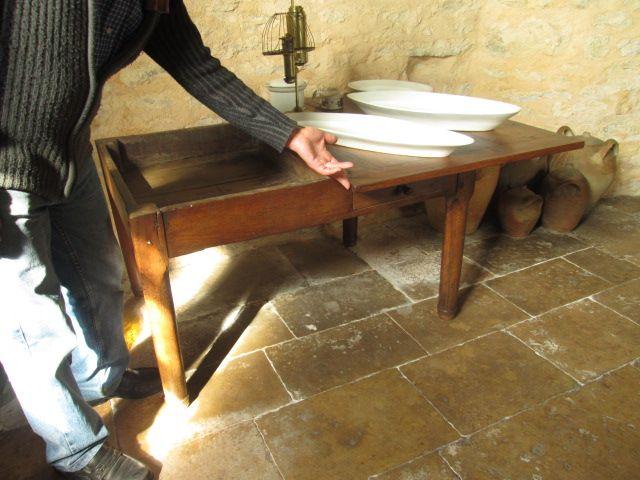 Table p trir plateau tournant 86 cibioux ch teau de - Plateau tournant table ...