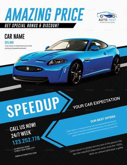car sales flyer template flyer templates pinterest flyer