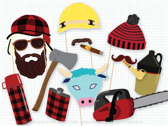 Full of plaid and outdoor goodness, my Lumberjack Photo Booth Props are my manliest set of props yet. This is a DIY printable set of props - nothing will be shipped to you. This listing includes 20 props! Break out some Paul Bunyan at your party with lumberjack hats, a black bear mask, an axe, facial hair, and even Babe the Blue Ox. Cut some to use at your party, or even cut out a few and bring to another party as a hostess gift.  The backgrounds shown in the pictures are not included in…