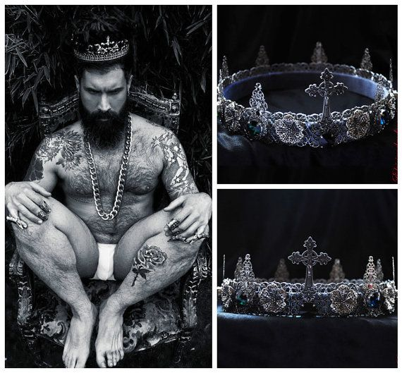 Hey, I found this really awesome Etsy listing at https://www.etsy.com/listing/261085084/silver-male-crown-runway-king-man-crown