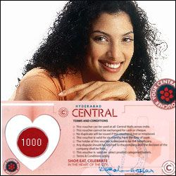 Hyderabad Central Mall Gift Voucher worth Rs.1000 - send Hyderabad Central to India, Hyderabad | Us2guntur