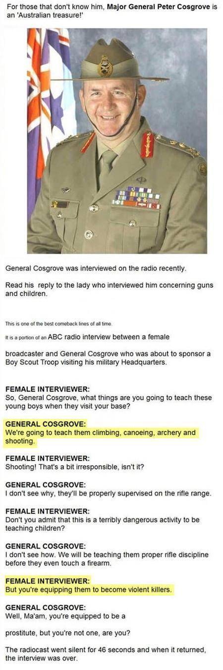 Meet Major General Peter Cosgrove