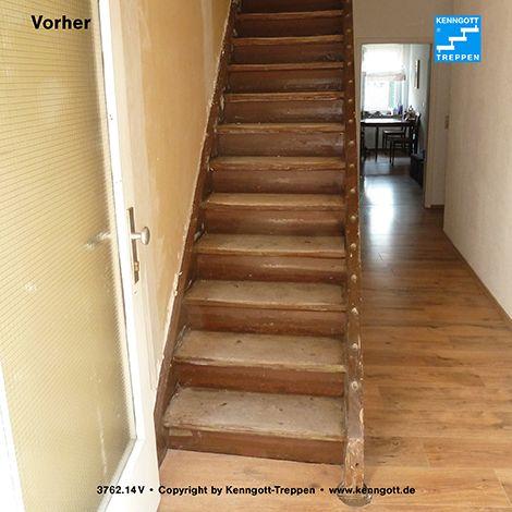 So sah die Treppe vor der Modernisierung aus.