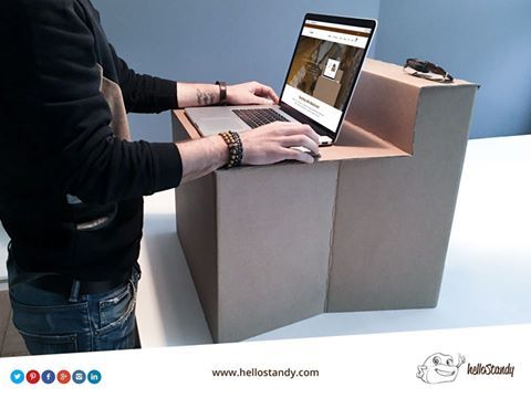 """""""With helloStandy you can work, study or dedicate yourself to your projects anywhere, increasing your productivity and improve your health."""""""
