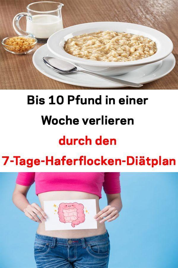 Haferflocken beim Frühstück, um Gewicht zu verlieren