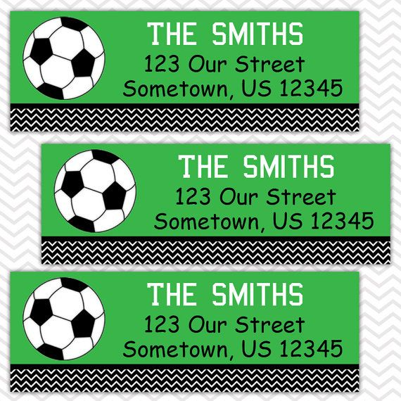 Soccer   Personalized Address labels Stickers by sharenmoments
