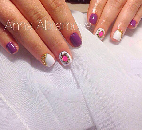 #гель_лак #лак #маникюр #дизайн_ногтей #ногти #шеллак #нейларт #нейл_арт #бульйонки #стразы #nails #nailart #nail_art #gel_polish #nail